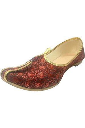 Step N Style Herren Mehroon Sherwani Jutti Hochzeitsschuhe indische Schuhe Ethnic Schuhe Mojari Juti, (Mehrfarbig)