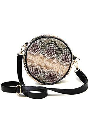 Me Plus Fashion Me Plus Damen Mädchen Teenager Fashion Solid Color Cord Crossbody Umhängetasche mit Taschen Verstellbarer Riemen, (Schlangenhaut, )