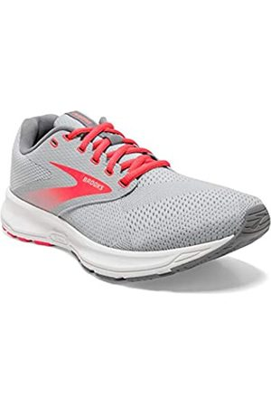 Brooks Womens Range Running Shoe - Oyster Mushroom/Alloy/Fiery Coral - B - 7