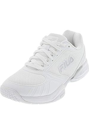Fila Men's Volley Zone Pickleball Shoe (White/Metallic Silver/White
