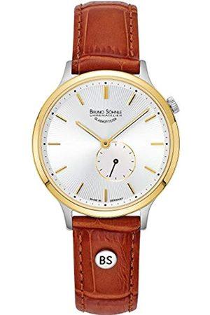 Soehnle Bruno Söhnle Damen Analog Quarz Uhr mit Leder-Kalbsleder Armband 17-23213-241