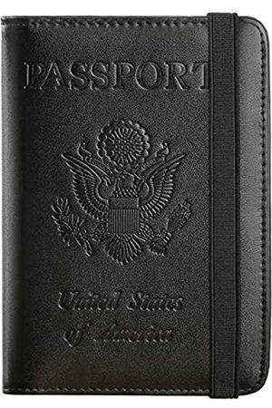 PASCACOO Reisepasshülle, RFID-blockierendes Leder, Kartenetui