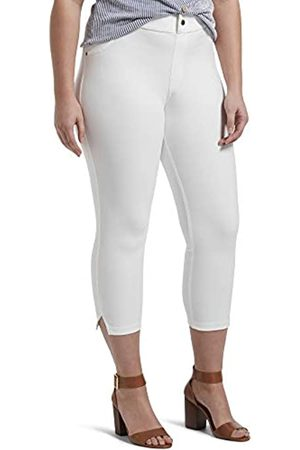 HUE Damen Ankle Slit Essential Denim Capri Leggings