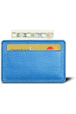 Lucrin Karten-Portemonnaie - Königsblau - Ziegenleder