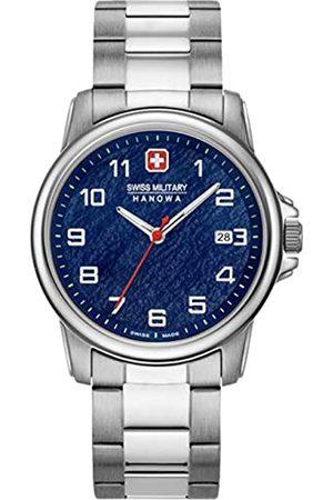 Swiss Military Hanowa Unisex Erwachsene Analog Quarz Uhr mit Edelstahl Armband 06-5231.7.04.003