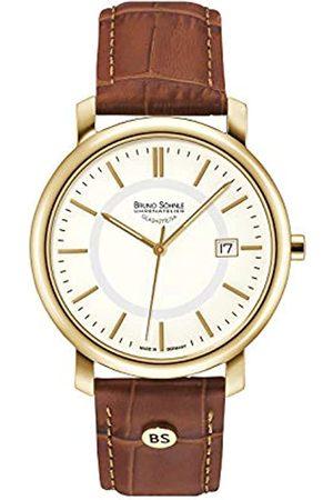 Soehnle Bruno Söhnle Herren Analog Quarz Uhr mit Leder Armband 17-33142-241
