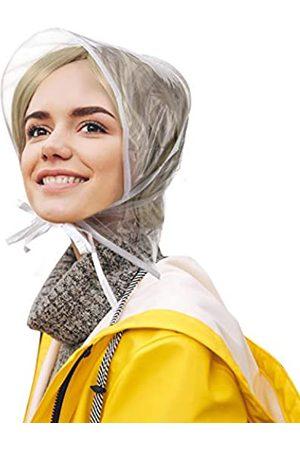 SATINIOR 12 Stücke Regenhaube mit Visier wasserdichte Klare Haube für Damen Lady Regenbekleidung