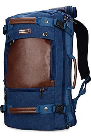 WITZMAN Herren Reiserucksack Canvas Rucksack Vintage Seesack - A2021 big size Blue