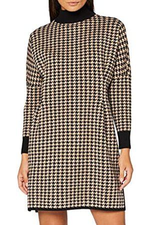 Apart Damen Knitted Houndstooth Dress Cocktailkleid