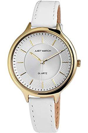 Just Watches Damen Analog Quarz Uhr mit Leder Armband JW10043-002
