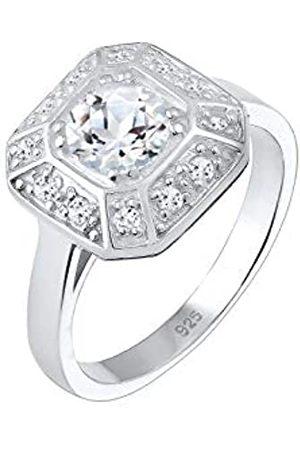 Elli PREMIUM Ring Damen Verlobung Glamour Topas in 925 Sterling