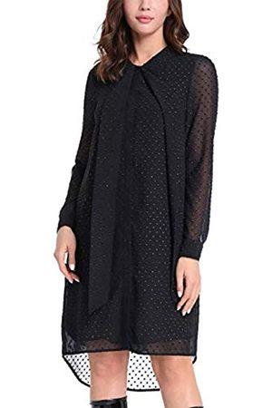 Apart APART Elegantes Damen Kleid, Hi-Lo Chiffonkleid hochgeschlossen mit Schluppe