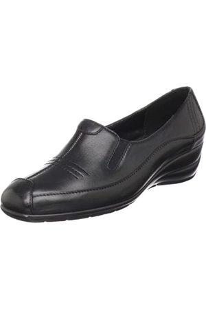 Walking Cradles Damen Jazz Slip-On Loafer, (schwarzes Leder)