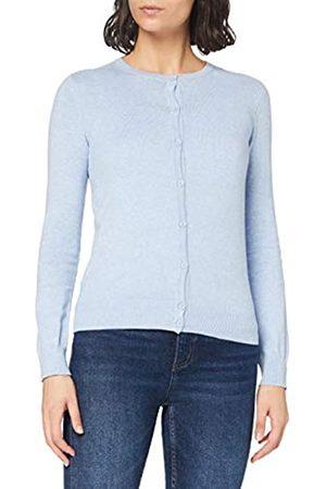 MERAKI Amazon-Marke: Baumwoll-Strickjacke Damen mit Rundhals, Blau (Ocean Blue), 40