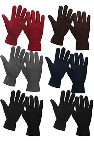 SATINIOR 6 Paar Winter Fleece Handschuhe Vollfinger Warme Handschuhe Handschuhe für Damen Herren