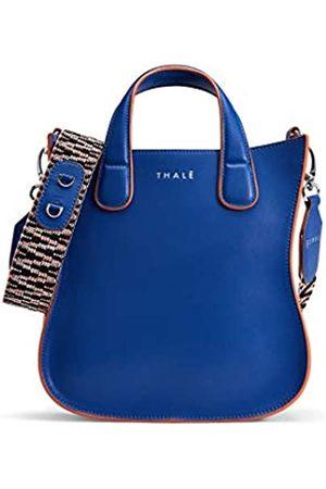 THALÈ BLANC Gisele Tote Mini Damen Handtasche Designer Crossbody Verstellbarer Schultergurt Glattleder, (Kobalt-Lachs-Nickel.)