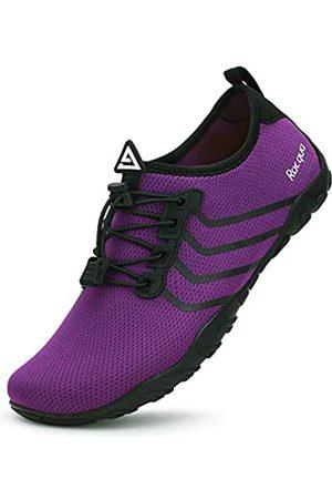 Racqua Swim Shoes Quick Dry Barefoot Water Aqua Sport Beach Surf Pool Diving for Men Women Purple 13