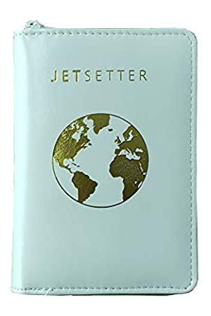 lovie style Reisepasshülle mit einzigartigem Reißverschluss, mehrere Farben und Reisezitate, RFID-blockierende Sicherheitshülle für Reisepässe, Karten