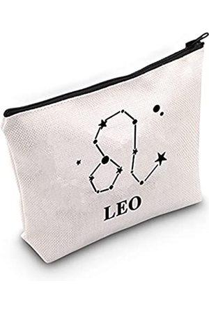 LEVLO Kosmetiktasche mit Sternzeichen-Symbol, Zirkonia, Horoskop, Geschenk, 12 Sternbilder, Make-up, Reißverschluss, 12 Horoskop, Astrologie