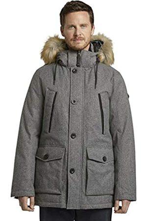 TOM TAILOR Herren Winterparka Jacke, 18849-grey Brushed Wool op