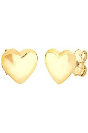 Elli Ohrringe Damen Herz Liebe Freundschaft Basic in 925 Sterling Silber Vergoldet