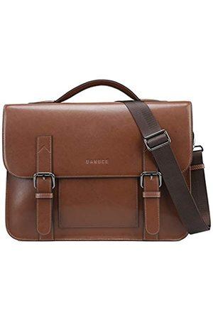 Banuce Vintage Leder Messenger Bag für Herren Crossbody Laptop Aktentasche Umhängetasche