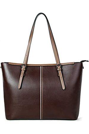 QIMIAOBABY Damen Leder Laptop Tragetasche Büro Handtasche Frauen Mode Aktentasche 15