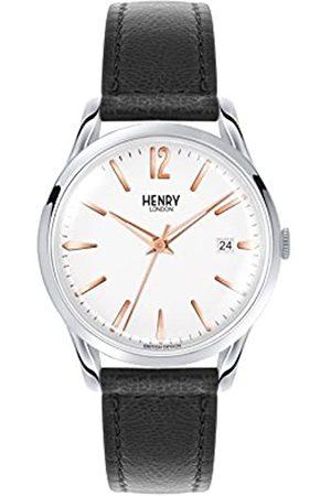 Henry Unisex Analog Quarz Uhr mit Leder Armband HL39-S-0005