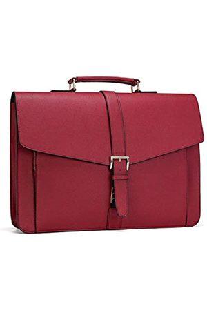 ESTARER Women Leather Briefcase for Travel Office Business Satchel 15.6 inch Laptop Messenger Bag