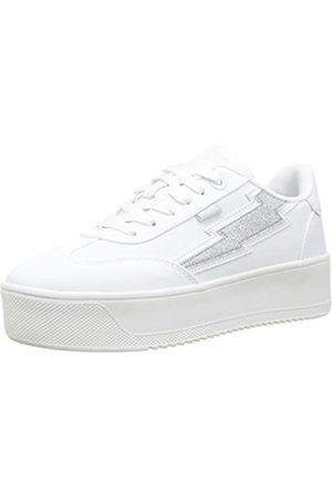 MTNG Attitude Damen 69586 Sneakers, (Texis Blanco/Brillo Plata C45016)