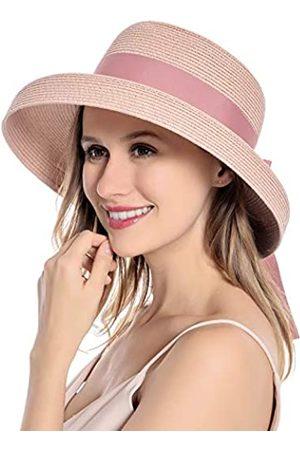 Muryobao Sonnenhut für Damen, UV-Schutz, faltbar, mit Krempe, Vintage-Stil
