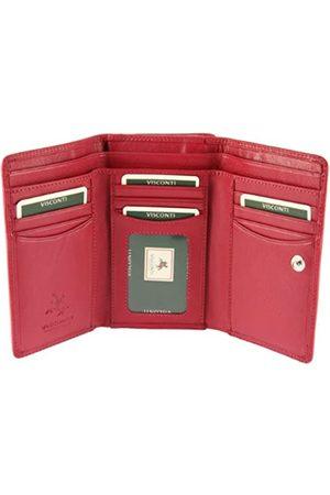 Visconti Classic Heritage -32 Damen Geldbörse aus weichem Leder, Rot (Fuscia)