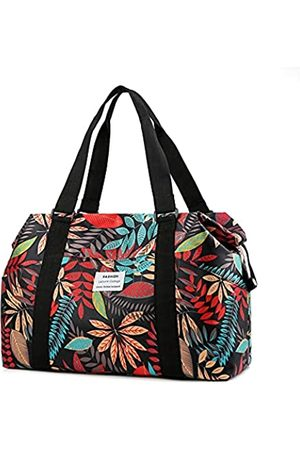 KWSPLK Große Strandtasche für Damen, Pool-Taschen und Tragetaschen, wasserdicht, mit Reißverschluss, für Picknick, Reisen, Fitnessstudio, Schwimmen, Grün (leaf)
