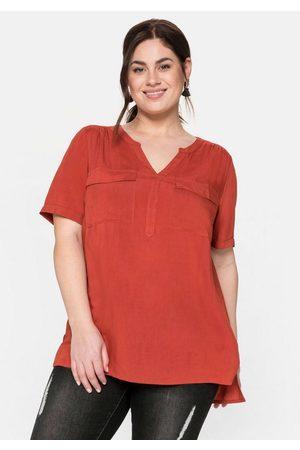 Sheego Damen Tuniken - Tunika mit aufgesetzten Brusttaschen