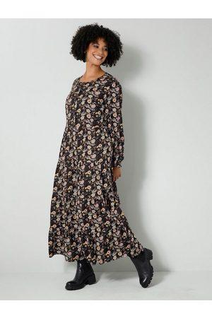 Angel of Style Damen Bedruckte Kleider - Maxikleid mit floralem Dessin