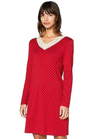 IRIS & LILLY Amazon-Marke: Damen Nachthemd aus Baumwolle, Mehrfarbig , L