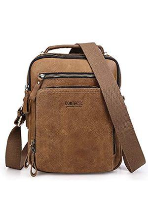 Contacts Echtes Leder Herren Klein Umhängetasche für 7.9 inch Laptop Tasche Tote Handtasche Messenger Tasche Handtasche