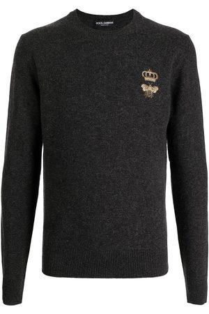 Dolce & Gabbana Herren Strickpullover - Fein gestrickter Pullover mit Stickerei