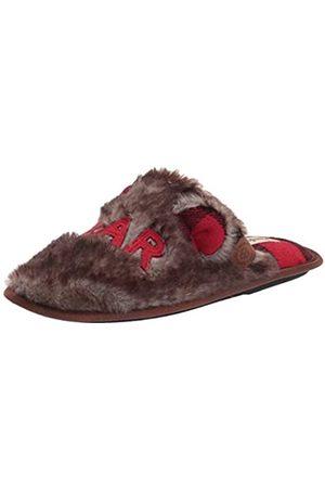 Dearfoams Damen Furry Auntie Bear Slipper