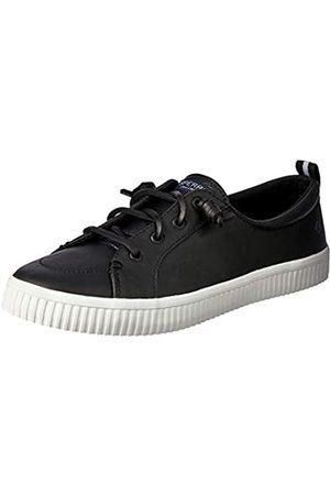 Sperry Crest Vibe Creeper Damen Sneaker aus Leder, (schwarzes Leder)
