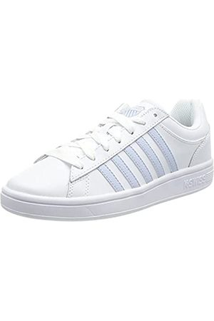 K-Swiss Damen Schuhe - Damen Court Winston Sneaker, (White/Heather 123)