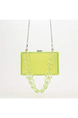 Ubrand Mädchen Polly Clutch-Handtasche aus transparentem Acryl