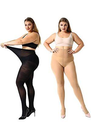 MANZI Damen Strumpfhose, hohe Taille, Übergröße, ultraweich