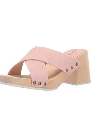 Seven Dials Malta Slide Damen-Sandale, Pink (Hellrosa/Nubuk)