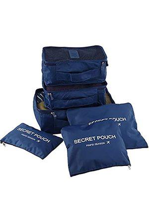 JARITTO Reiseorganizer Kofferset 6 Stück Packwürfel Aufbewahrungstasche für Kleidung (dunkelblau)