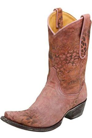 Old Gringo Damen L168-5 Leopardito Cowboystiefel, Pink (rose)