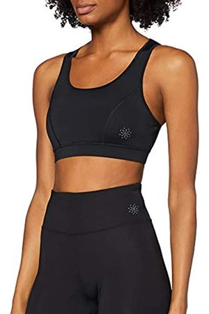 AURIQUE Amazon-Marke: Damen Sport-BH Low Impact Strappy (Black), M