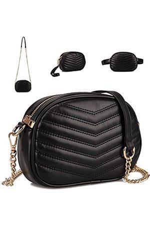 Gladdon 3-in-1 modische Bauchtasche füre Hüfttasche, stilvolle Crossbody-Börse für Damen, Clutch, Baguette-Tasche mit Schultergurt, vielseitige Gürteltasche