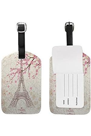 Use4 Gepäckanhänger mit Zebramuster, Schwarz / Weiß