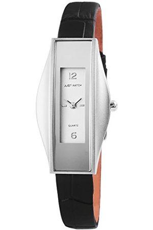 Just Watches Damen Analog Quarz Uhr mit Leder Armband JW5983-SL